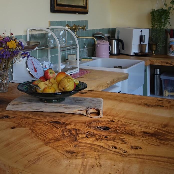 Plan de travail cuisine bois massif hors norme - Salvateur