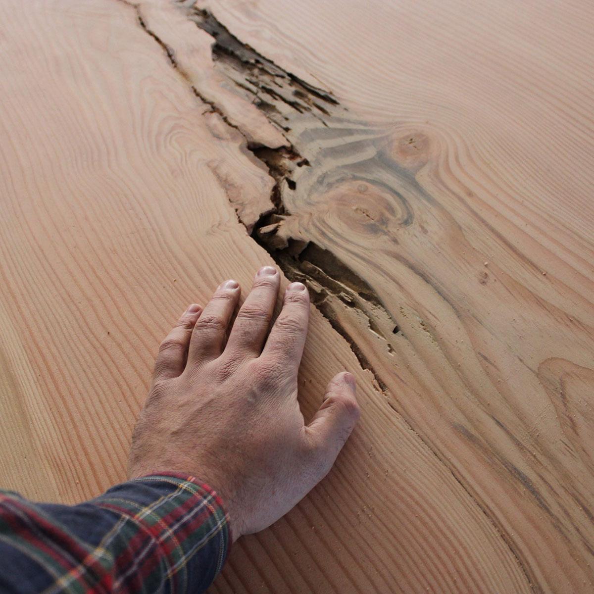 Table en bois massif Douglas sur mesure - Salvateur